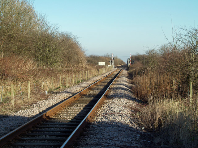 The Railway towards Barrow Haven