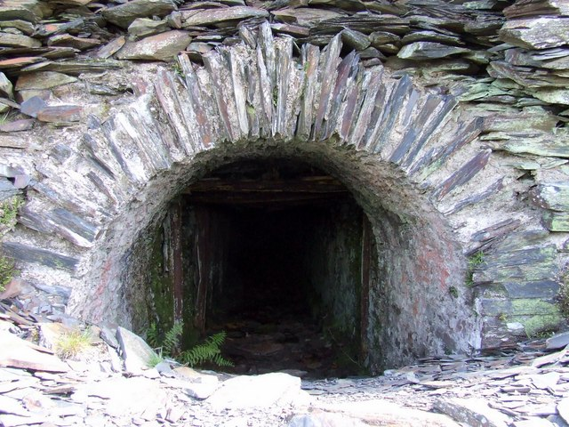 Entrance to access shaft Rosebush Quarry