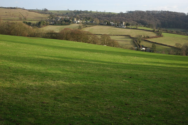 Farmland to the west of Cranham