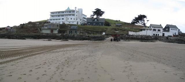 Burgh Island - waterfront buildings