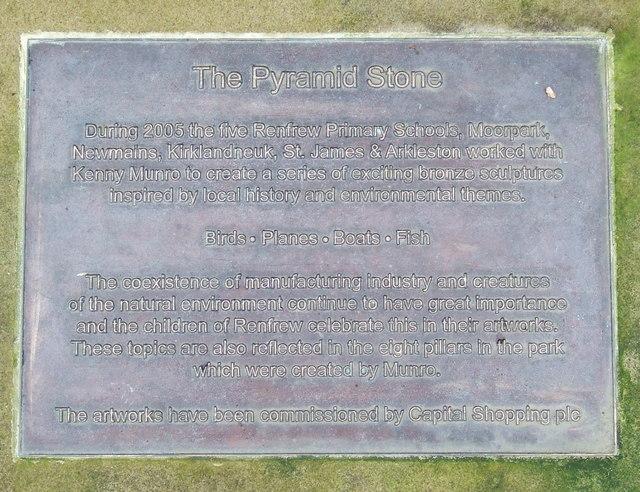 The Pyramid Stone plaque