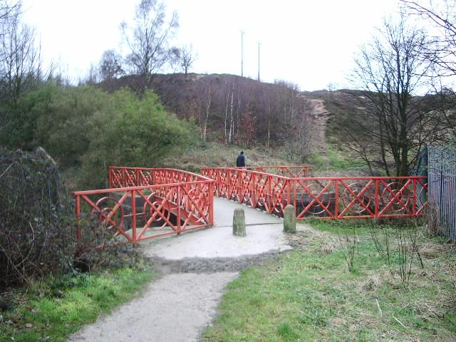 Footbridge over the River Darwen