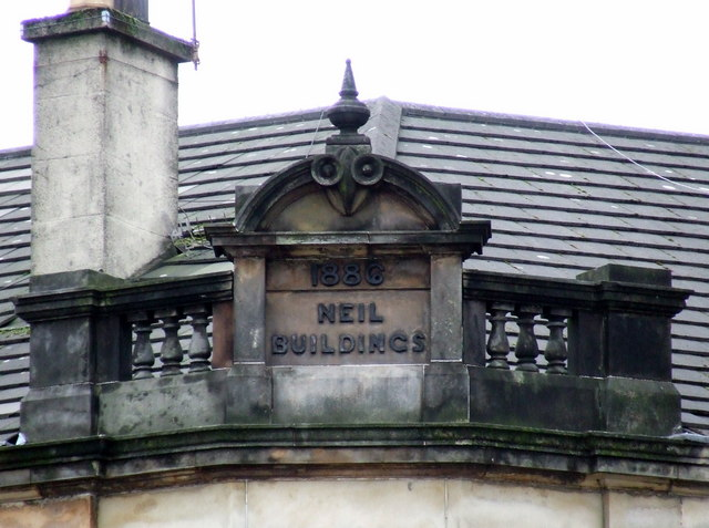 Neil Buildings Date Stone