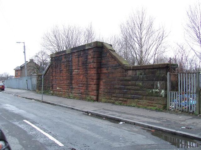Remains of railway bridge
