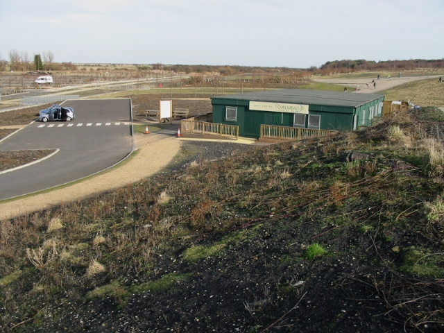 The visitor centre at Fowlmead Country Park