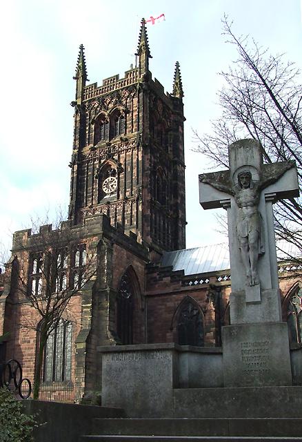 St Peter's Church, and War Memorial, Wolverhampton