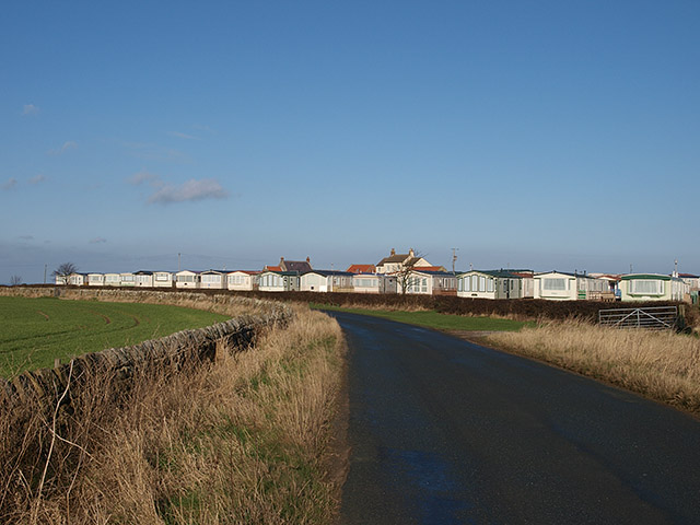 Caravan site at Highgate Howe