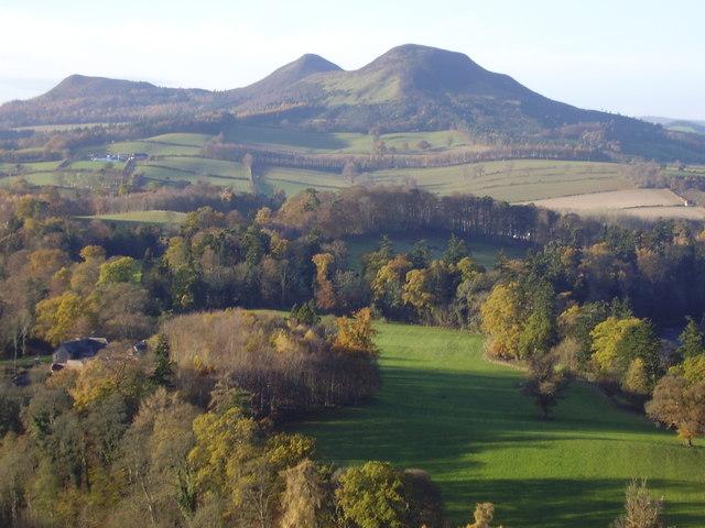 The Eildon Hills, Sir Walter Scott's favourite view.