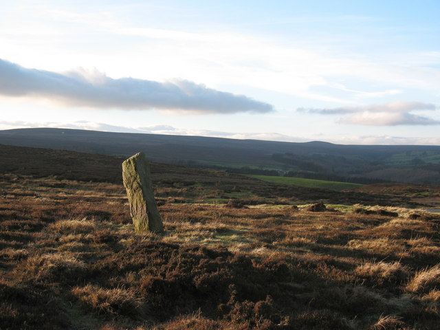 Stone post  at Coal Hill