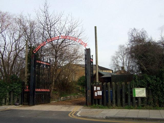 Entrance to Camley Street Natural Park