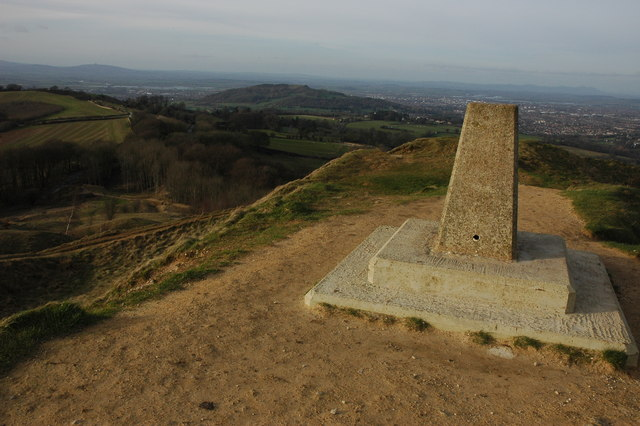 Trig point on Painswick Beacon