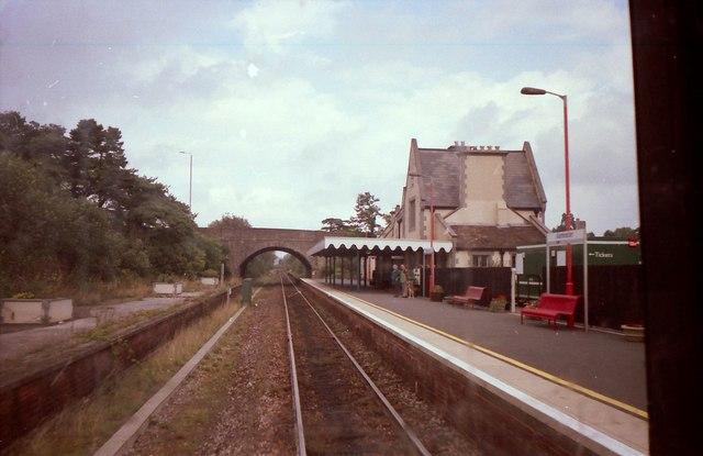 Axminster Station.