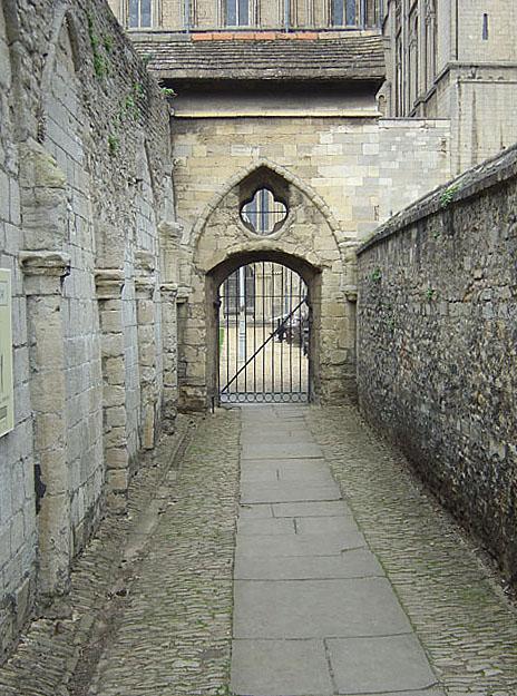 Passageway into the cloister garth