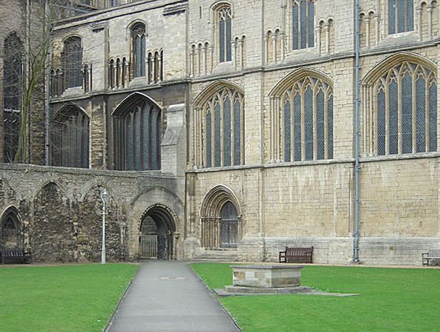Cloister Garth - looking north west