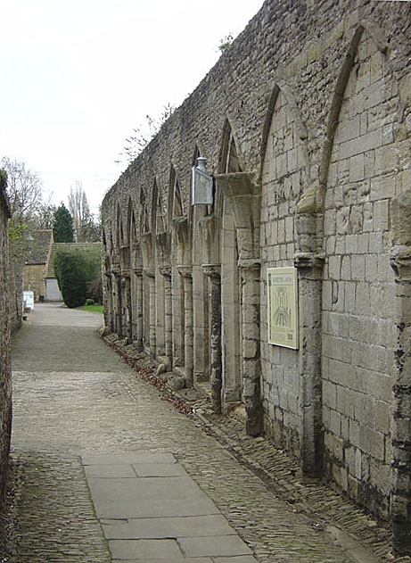 Arcade of the monks' refectory