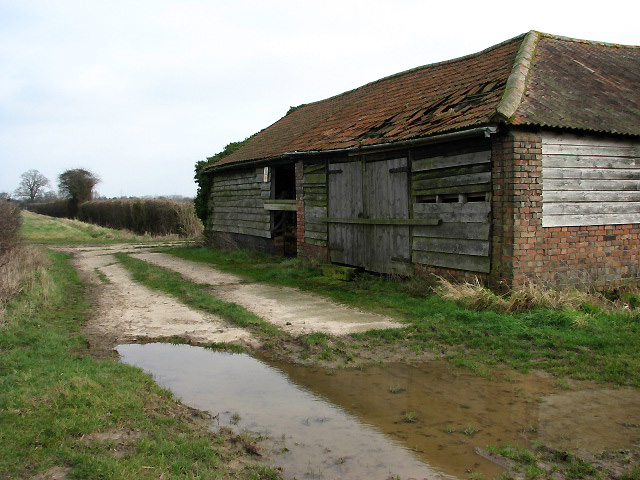 Dilapidated cattle shed