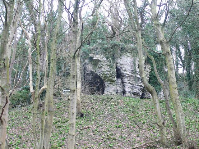 Strange rock outcrop, Pant y Coed