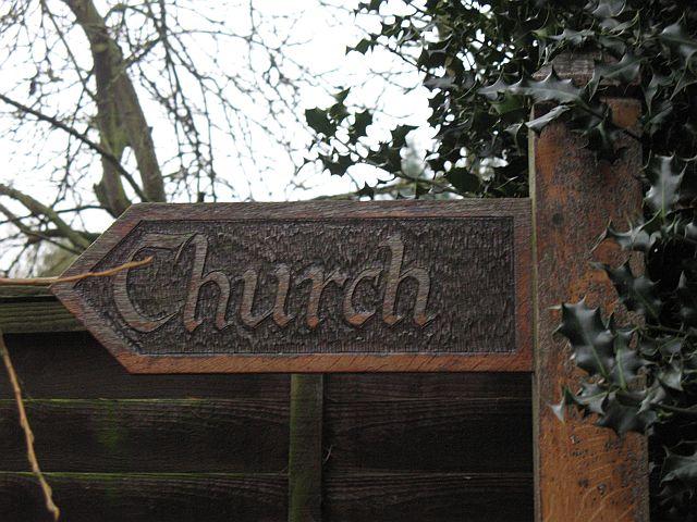 Sign, Church Lane