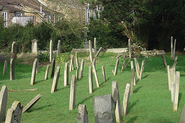 Dancing gravestones