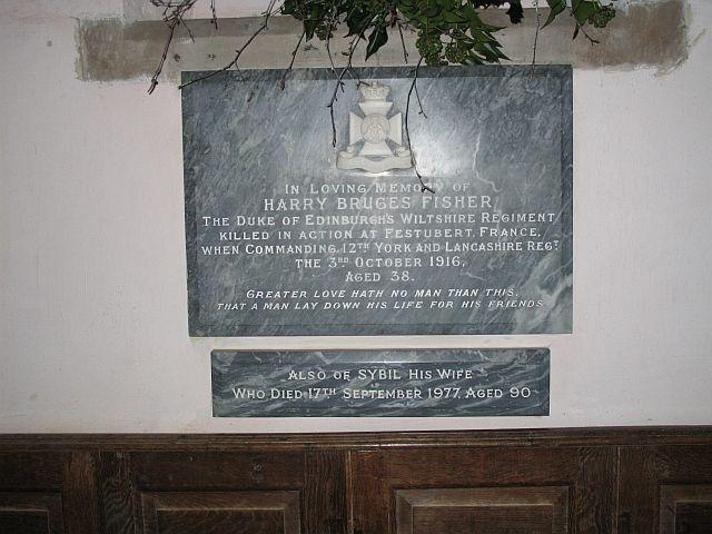 Memorial, Ashford Carbonel Church
