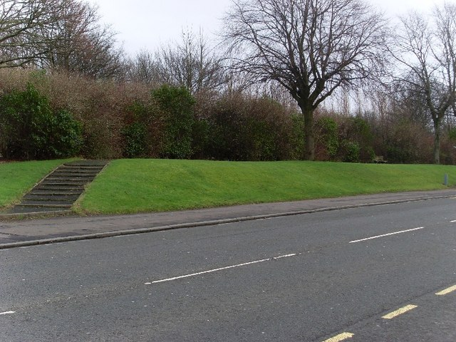 Grassland between railway and Dumbarton Road