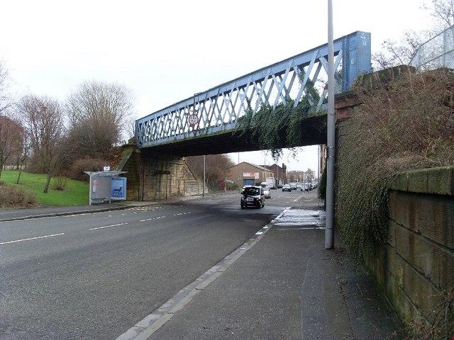 Railway bridge over Dumbarton Road