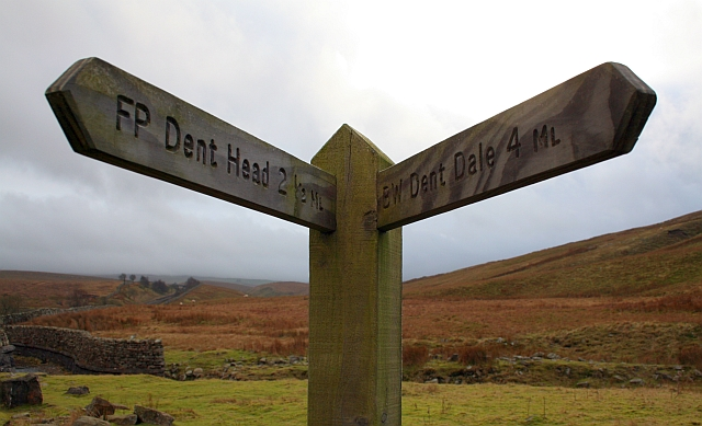 New Footpath Sign in Little Dale