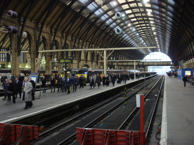 Morning rush at King's Cross