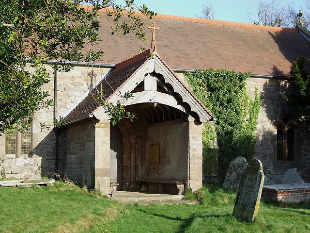 Entrance to  Holy Trinity Church, Holdgate, Shropshire