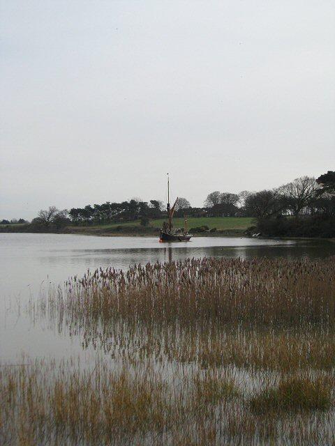 Old Barge moored on the River Alde