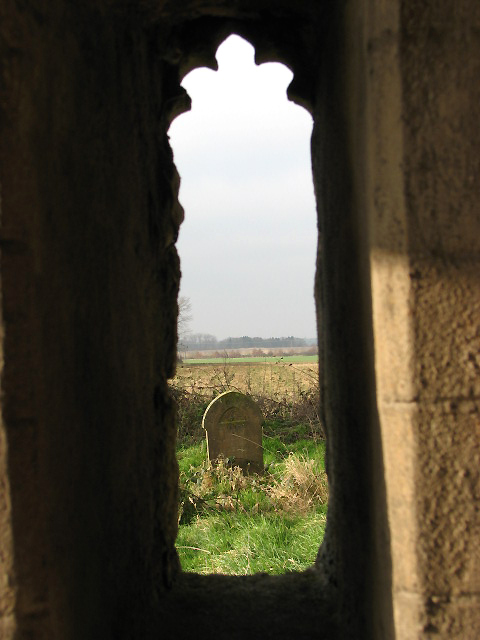 The Church of All Saints - view from porch window