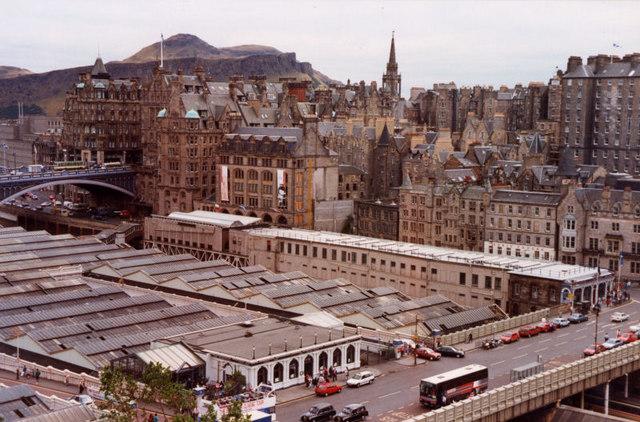 Waverley from the Scott Monument, Edinburgh