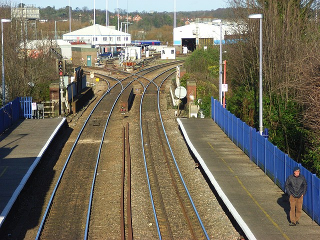The railway at Reading West Station