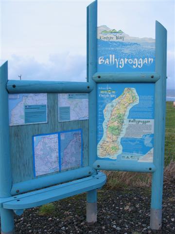 Ballygroggan Kintyre Way notice board