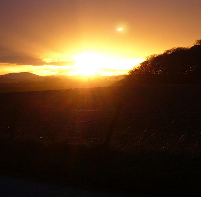 Sunset from Hillhead Fyvie