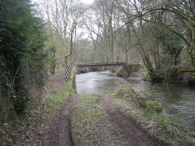 River Onny : Footbridge & ford