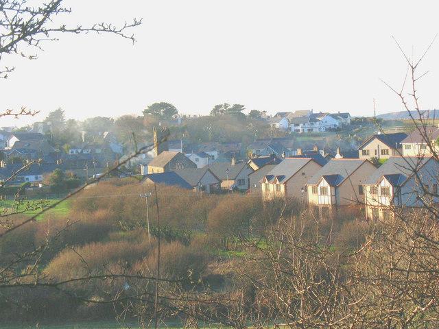 Bro Gwylwyr - a modern housing estate on the north-eastern fringe of Nefyn