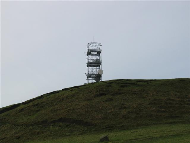 Transmitter mast on Askomill hill