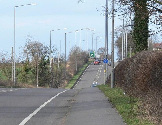 A5 Watling Street near Nuneaton