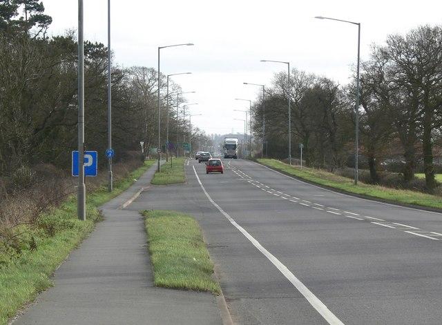 Southeast along the A5 Watling Street