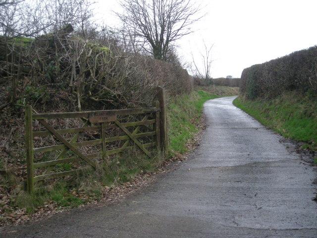 Driveway to England Shelve Farm