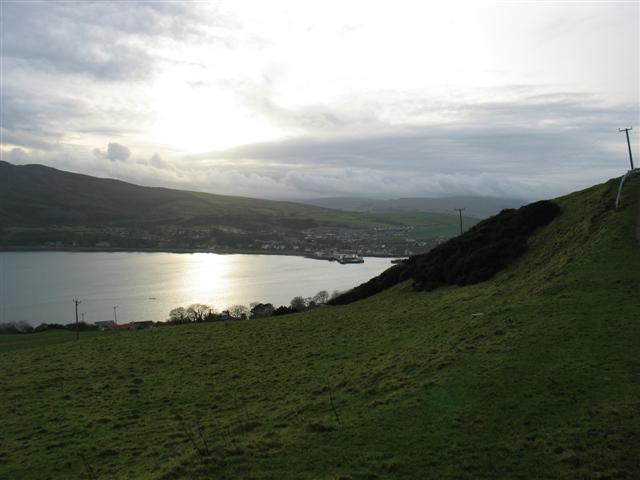 Askomil hill looking to Campbeltown harbour