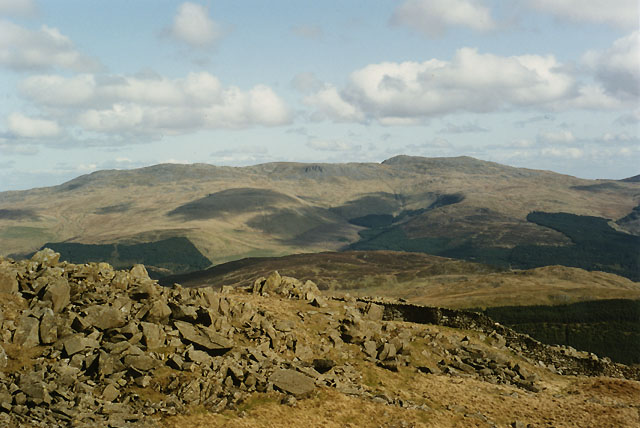View east from Rhobell Fawr