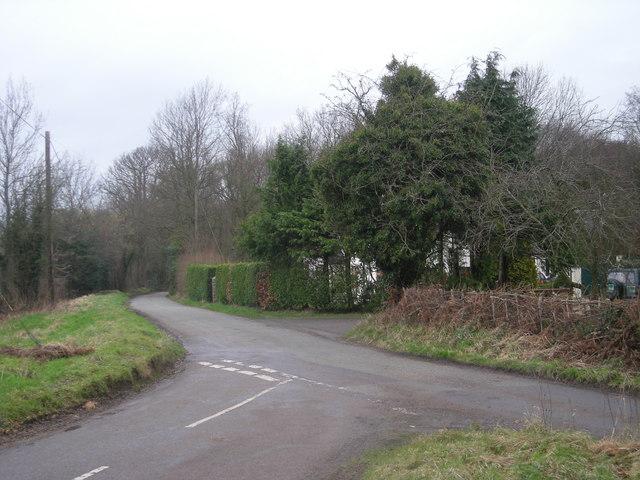Road junction near The Kennals Farm