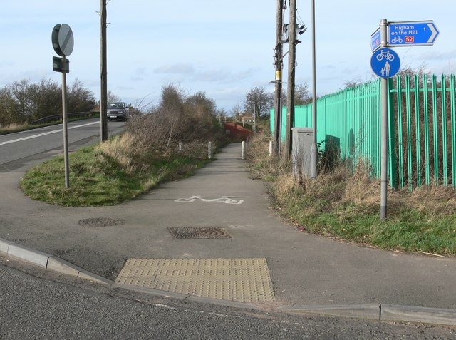 A5 Watling Street and cycleway