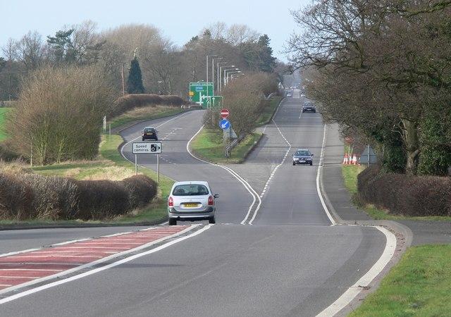 Northwest along the A5 Watling Street