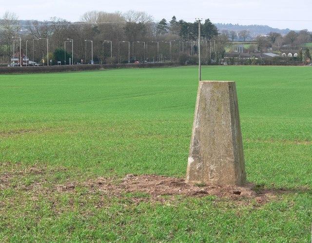 Trig point near the A5 Watling Street