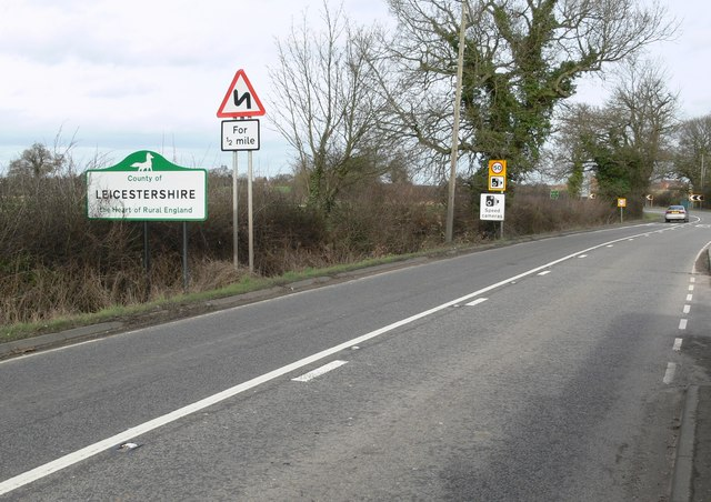 Entering Leicestershire along Atherstone Road