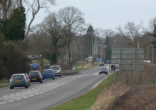 A5 Watling Street near Mancetter