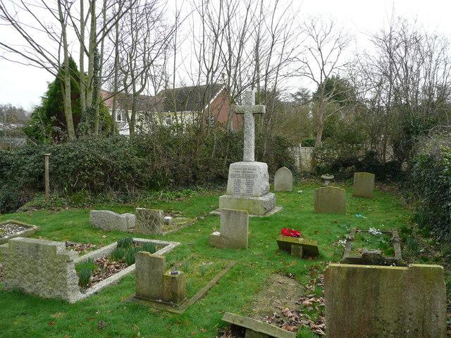 Birdham war memorial cross
